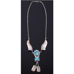 Navajo M Yazzie Sleeping Beauty Turquoise Necklace