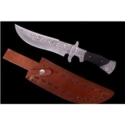 Engraved Exquisite D2 Steel Bowie Knife CFK USA