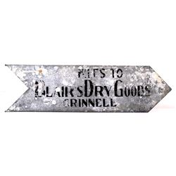 Directional Blairs Dry Goods Miles to Road Sign