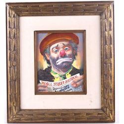 William Persona Sad Clown Original Oil Painting