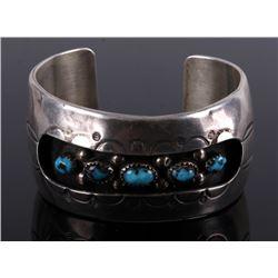 Zuni Signed Bisbee Turquoise Bracelet