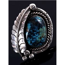 Navajo Lone Mountain Turquoise Silver Ring