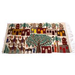 Large Egyptian Pictorial Kilim