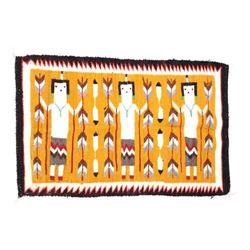Navajo Yei Wool Rug From Chinle; Weaver M. Benally