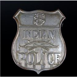Indian Police Silver Badge