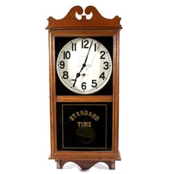 New Haven Clock Company Standard Time Clock