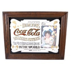 Coca Cola Advertising Trade Mirror c. 1970