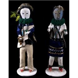 Hopi Cotton Wood Kachina Dolls c. 1950s- 1960s