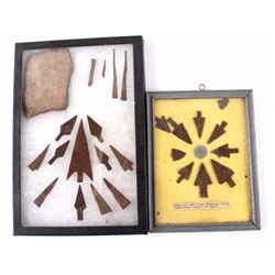 19th Century Sioux Metal Arrowhead Collection