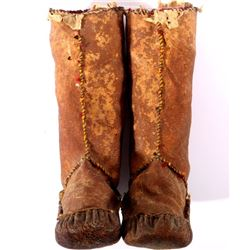 Early Eskimo Inuit Child's Mukluks 1800-1900