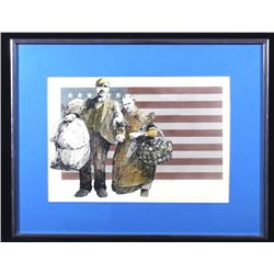 Original Art Titled 'Immigrants' By Wes Lifferth