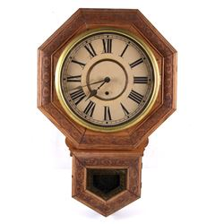 Antique E.N. Welch Clock Co. Octagon Drop Clock