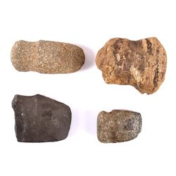 Ancient Native American Stone Axe and Hammer Heads