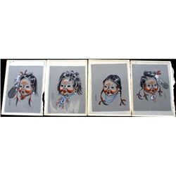 Collection of Original Sioux Acrylic Portraits