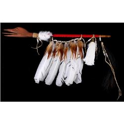 Blackfoot Style Native American Loon Dance Stick