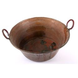 Large Copper Wash Basin