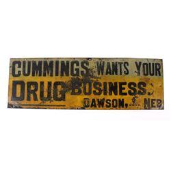Cummings Drug Advertising Signs