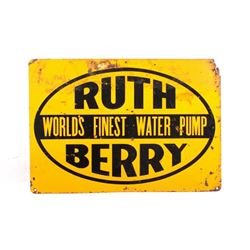 Ruth Berry Water Pump Vintage Sign