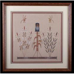 Original Framed Corn Kachina Sand Painting