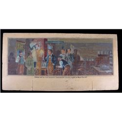 Original Painting of Edison's First Working Light