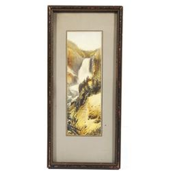 Framed Photograph of Haynes Falls in Yellowstone
