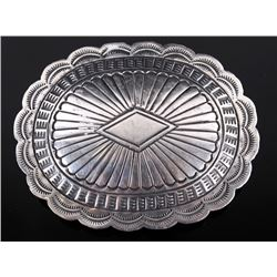 Navajo Sterling Silver Belt Buckle