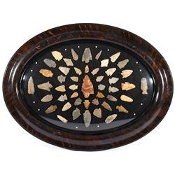 Pre- Historic Native American Arrowhead Collection