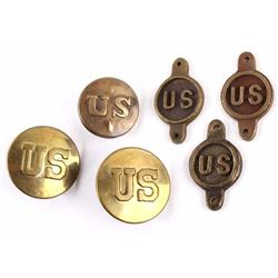 US Cavalry Brass Bridle Rosettes & Bit Spots