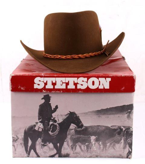 9c2e46ab Image 1 : Montana Stetson 4X Beaver Cowboy Hat ...
