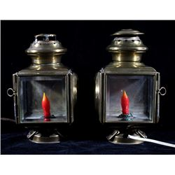 Pair of Antique Maxwell Roadster Lamps c. 1911