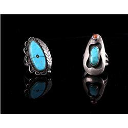 Navajo Old Pawn Silver Rings