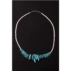 Navajo Sleeping Beauty and Heishe Shell Necklace