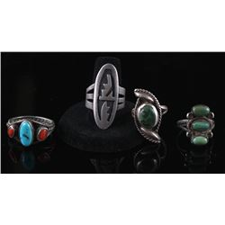 Navajo Sterling Silver Old Pawn Rings