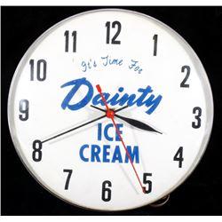 Dainty Ice Cream Wall Clock