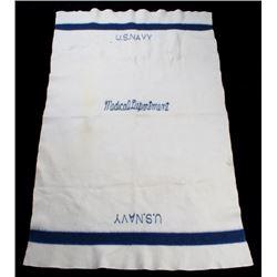 World War II Medical Dept. U.S. Navy Wool Blanket