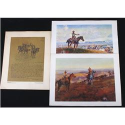 Collection of Charlie Russell Prints