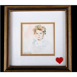 Portrait of Little Girl by Terry Mimnaugh