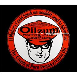 Old Style Oilzum Motor Oil Metal Single Sided Sign