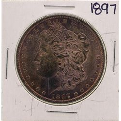 1897 $1 Morgan Silver Dollar Coin Nice Color