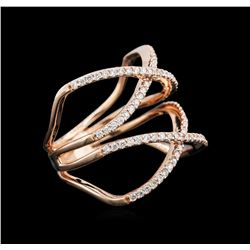 0.53 ctw Diamond Ring - 14KT Rose Gold