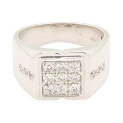 0.6 ctw Diamond Ring - 14KT White Gold