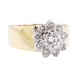 1.04 ctw Diamond Ring - 14KT Yellow And White Gold
