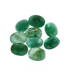 12.03 cts. Oval Cut Natural Emerald Parcel