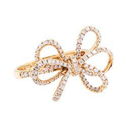 0.77 ctw Diamond Ring - 18KT Rose Gold