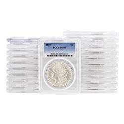 Lot of (20) 1889 $1 Morgan Silver Dollar Coins PCGS MS63