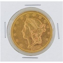 1874-S $20 Liberty Head Double Eagle Gold Coin