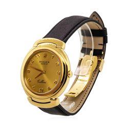 Rolex Men's Cellini Wristwatch - 18KT Yellow Gold