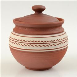 Hand Made Ceramic Jar with Lid by Tamosiunas, Eugenijus