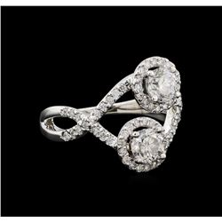 1.47 ctw Diamond Ring - 14KT White Gold