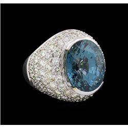 19.03 ctw Sapphire and Diamond Ring - Platinum